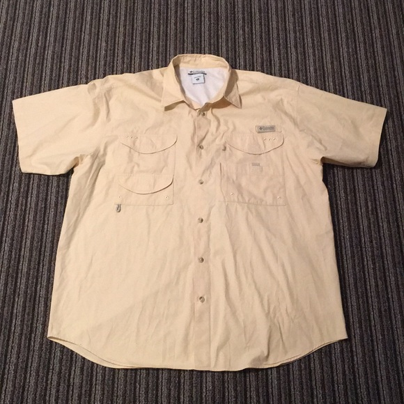 ee1cf06a180 Columbia Shirts | Pfg Performance Fishing Gear Shirt Xl Tan | Poshmark